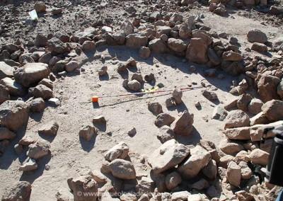 Estructura circular de piedra, poblado Vinto 4, valle de Lluta