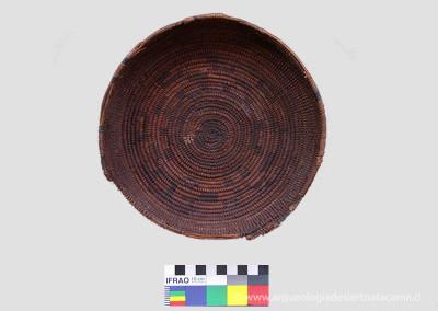 Cesto en fibra vegetal decorado, Qui-7