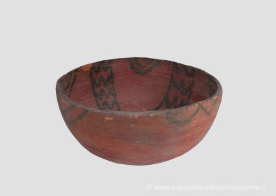 Cuenco de cerámica, sitio Az-6
