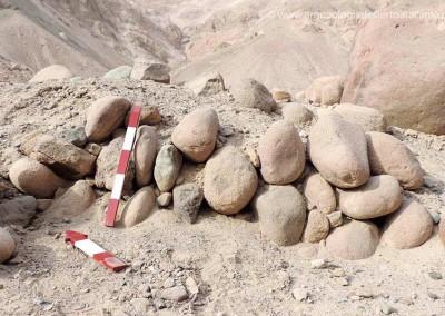 Muro de piedras, poblado de Chilpe